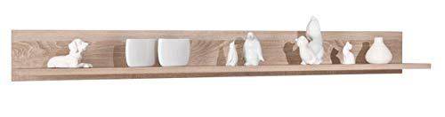 Inter Link 19300000 Wandboard Regal Wandregal Schweberegal Hängeregal Sonoma Eiche modern 176 cm NEU