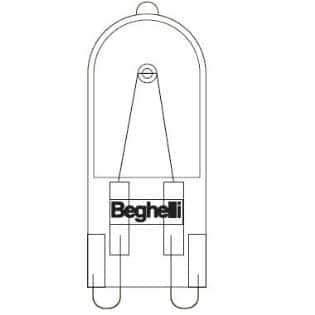 Beghelli 54302 Twin Attacco G9 230V 60W G9 Ch