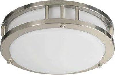 Quorum 87210-1-65 One Light Flush Mount, Satin Nickel Finish