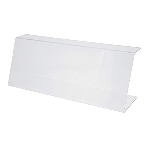 Vitrine de protection plexi avec rebord - H23 x L60 cm