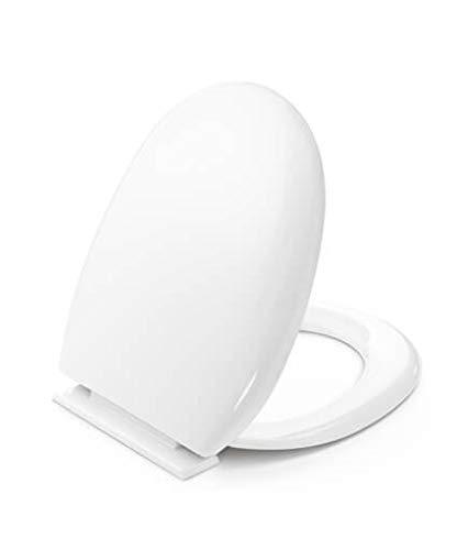 Tapa y asiento de inodoro, con bisagras ajustables (Adecuado para infinidad de modelos. Ver descripción) - Compatible con Roca Lucerna