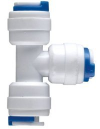 """Realgoal 1/4\"""" Tee 3 Way Tube Quick Connect Tube Push Fit Quick Fittings Connector for RO Water Reverse Osmosis Pure Filter System(Pack of 5)"""