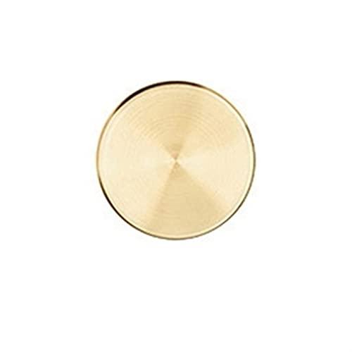 MJJCY Bandejas de Almacenamiento de Acero Inoxidable Redondo Color de Oro Estilo Simple Collar de joyería cosmético Postre Placa Home Organizador (Color : S)