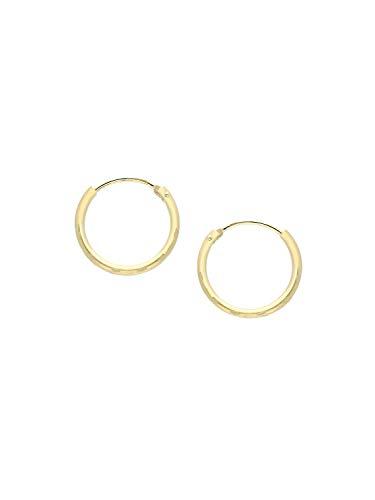 Creolen Ohrringe Gelbgold 333 Gold (8 Karat) Ø 13mm Goldohrringe Goldcreolen Damenohrringe Ohrschmuck Sunset C-00697-G306-13mm/1.3mm