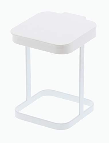 山崎実業 ポリ袋エコホルダー 蓋付きポリ袋エコホルダー タワー ホワイト 3330