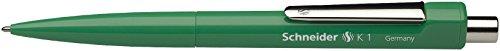 Schneider Schreibgeräte Druckkugelschreiber K 1 grün, M grün, dokumentenecht