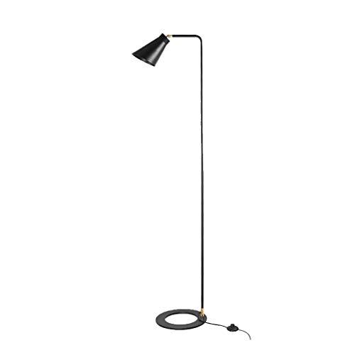 Lamp Vloerlamp Zwart Smeedijzeren Staande Licht Moderne Eenvoud Slaapkamer Vloerlamp Verticale Armatuur - Design Armatuur Verlichting Vloerlamp