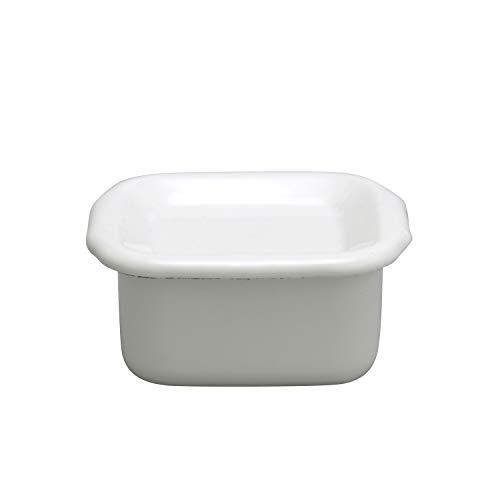 野田琺瑯 ホワイトシリーズ 保存容器 スクウェアS 琺瑯蓋付 日本製 WSH-S