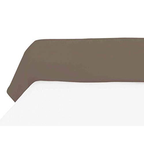 Federa per cuscino cilindrico 45x135 cm in cotone 57 Fili SOLEIL D'OCRE tortora