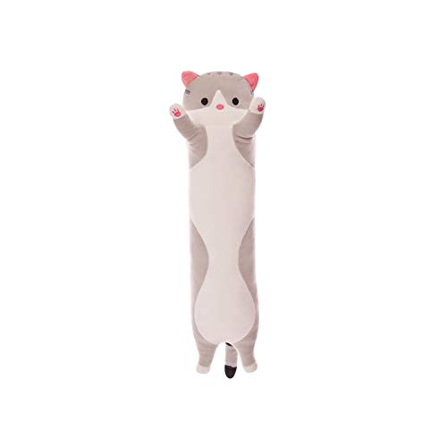 Chutoral Kuschelige Katze Plüsch, Plüsch-Katzenpuppe, gefülltes Kätzchenspielzeug, langes Katzen-Schlafkissen, Geschenk für Kinder Freundin (150 cm)