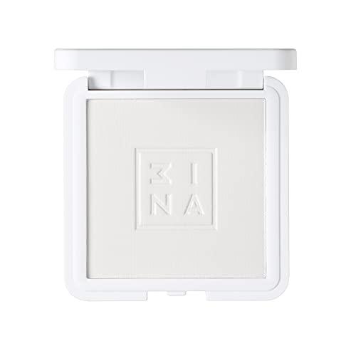 3ina - Vegan - Maquillage Sans Cruauté - The Setting Compact Powder 100 - Transparent - Poudre Visage Compacte - Fini Lumineux - Fixe le Maquillage - Effet Matifiant - Absorbe l'Excès de Sébum