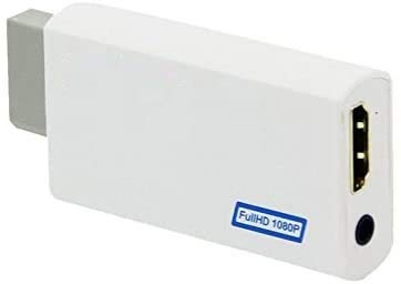 CHILDMORY 1080P / 720P adaptador convertidor de audio de 3,5 mm para Wii a compatible con HDMI Wii2HDMI