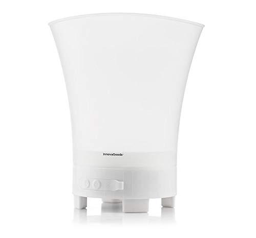 Service21 InnovaGoods LED-Eiskübel mit wiederaufladbarem Lautsprecher, inkl. kostenlosem USB-Kabel
