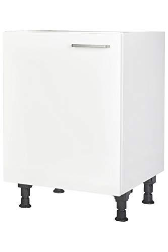 Küchen Unterschrank 60cm in Weiß Küchenblock Küchenzeile nobilia