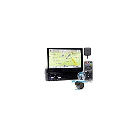 """pkg Soundstream VRN-75HB In-Dash 1-DIN 7"""" DVD Receiver with Bluetooth, GPS Navigation and Android PhoneLink with XO Vision HTC 35 Backup Camera with Nightvision"""