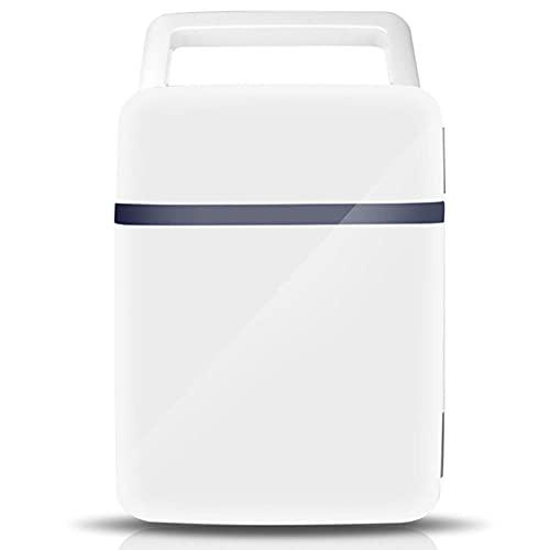 NOVHOME Mini Nevera Congelador, Refrigerador PequeñO de 10 Litros Dormitorio Refrigerador para Estudiantes Voltaje DoméStico 220V Coche 12V Mango Oculto