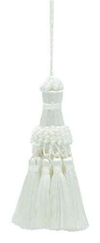 DecoPro Blanc élégant Key Tassel/38 cm de Long Tassel, 76 cm de Propagation (Embrace) Style # NKT – Onyx A1