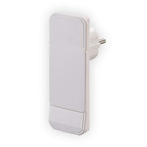 Platte stekker kunststof 230 V wit IP20 NVB