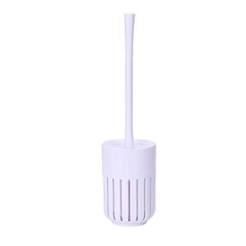 XMCF Cepillo y Soporte para Inodoro Montado en la Pared sin Necesidad de taladrar Juego de Limpieza WC, WC Cepillo y Titular de Ajuste, Aseo Sistema de Cepillo for el baño Escobillero de baño