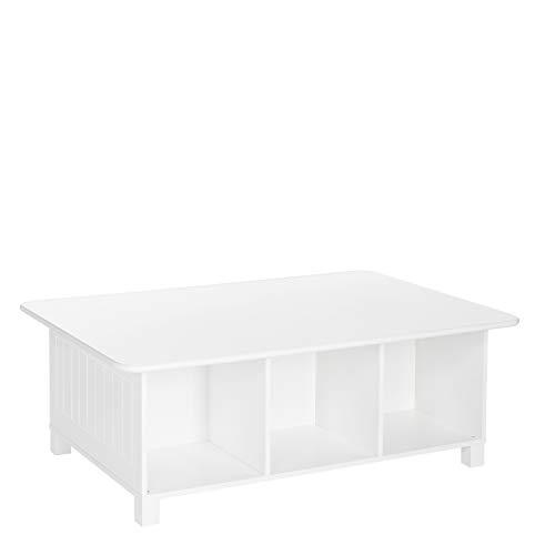 RiverRidge Home Kids 6 Cubby Storage Activity Table, White