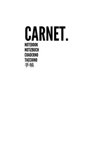 Carnet Notebook Notizbuch Cuaderno Taccuino 手帳: Carnet de Notes Journal Large, Vierge, Papier Ligné | Parfait pour le travail scolaire Enfants Étudiants Hommes Femmes Garçons et filles (Blanc)