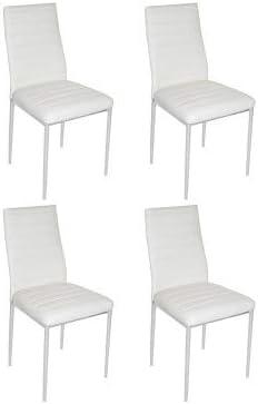 2 Unidades 40/x 40/x 29 cm Suarez Sillas Tela Blanco