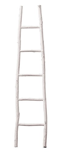 Creative Co-Op Decorative Painter Wood Blanket Ladder, White