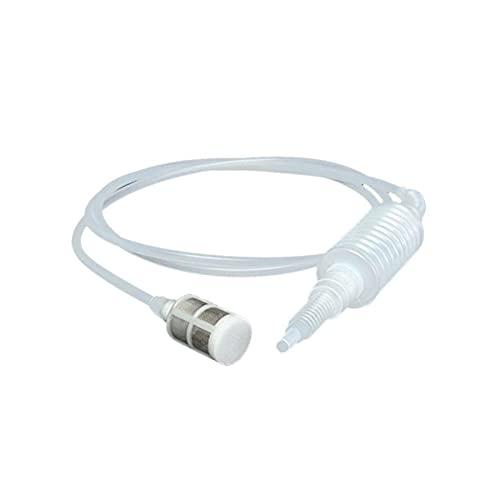 CFDYKRP Portátil Manual Oilsifon Tube Coche Manguera de Coche Extractor de Licor Lucer (Color : White, Length : 2m)