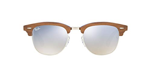 Ray-Ban Clubmaster (M) Gafas de sol, Silver, 51 para Hombre