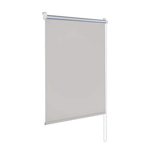 Rapid Teck® Klemmfix Thermo Verdunkelungsrollo 105cm x 150cm grau Verdunklungsrollo Seitenzug Klemmrollo + Kindersicherung
