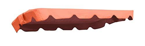 MFG Hollywoodschaukel Ersatzdach 182 x 134 cm (Taschenmaß 176 x 130 cm), terrakotta, 100% Polyester