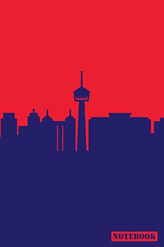 Notebook: San Antonio Texas Cityscape Diary Journal (Blue & Red)