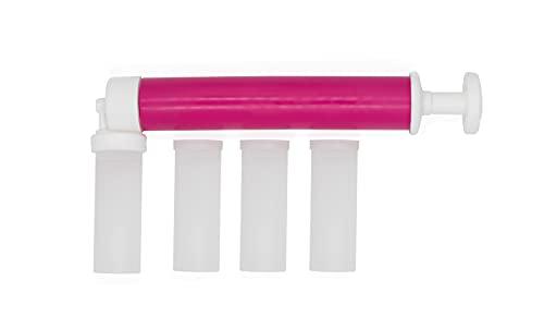 PREEMIUM Airbrush für torten - Manuelle Airbrush-Kuchendekorateur mit Gebrauchsanweisung - Verteilen Sie mit Lebensmittelfarbe und essbarem Glitter Farbe auf dem Kuchen (Fuchsie)