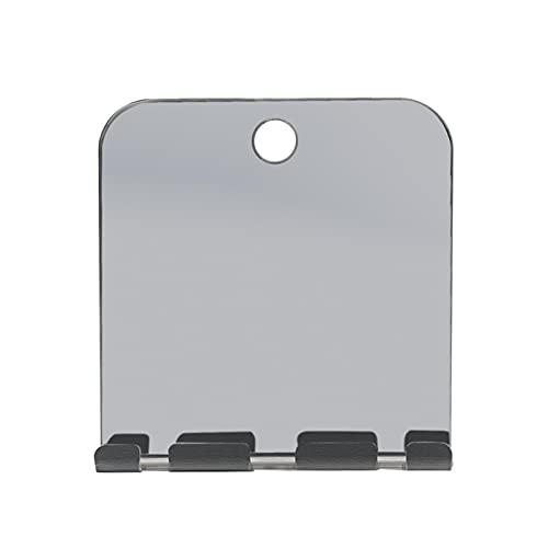 Espejo de ducha, espejo de ducha, espejo de ducha para colgar en la pared, espejo de afeitado, con aspiración, anti-vaho, pequeño espejo inastillable para el cuarto de baño