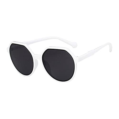 non-brand Tendencia Gafas de Sol Gafas con Lente de Resina Hombres Mujeres Gafas de Pesca - Gris blanco