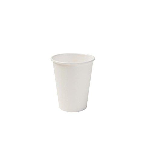 BIOZOYG Bio Pappbecher I Einweggeschirr Trinkbecher Papierbecher kompostierbare und biologisch abbaubare Becher I weiße, unbedruckte, umweltfreundliche Kaffeebecher 50 Stück 200ml 8oz