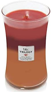 WoodWick Autumn Harvest Trilogy 22 oz Scented Jar Candles - 3 in One