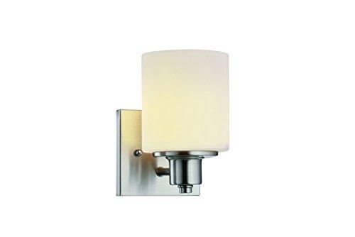 Design House 578815 Dane 1 Wall Light, Satin Nickel