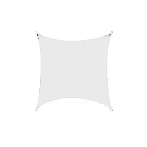 DIANPU Velas De Sombra para Patio, Cuadradas Impermeables Protección Solar Y Protección UV Velas De Sombra para Patio Exterior Y Jardín (4m*4m,Blanco)