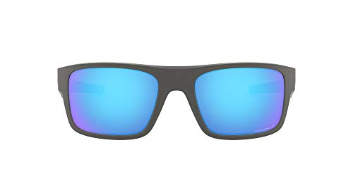Oakley Drop Point Gafas de Sol, Hombre, Gris (Matte Dark Grey/Prizmsapphirepolarized), 61