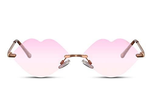 Cheapass Zonnebrillen Thunder & Lips Crazy Festival Party Feest Monturen Doorzichtige Lenzen UV400 bescherming Heren Dames