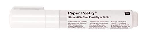 PAPER POETRY Klebestift in 4mm oder 8mm klebt Papier Metall Kunststoff Klebstoff Kleber praktischer Stift 8 mm