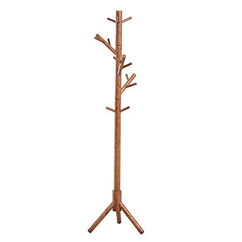 Robusto Madera Perchero Forma De Árbol,Gorros Ropa Fácil Montaje Perchero para Colgar Ropa para Casa Oficina Vestíbulo Entrada,Ajustable Altura Perchero De Pie Colgador-Madera 45x45x181cm