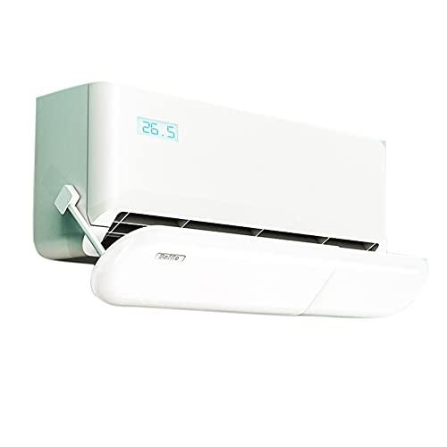 TIZJ Deflector de Aire Acondicionado Montado En La Pared, Parabrisas de Aire de Confinamiento Ajustable Cubierta de Ventilación de Aire Acondicionado Plegable Accesorios de Oficina En Casa