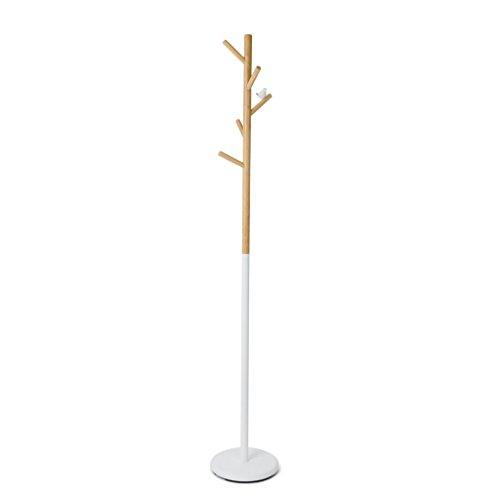 Balvi Appendiabiti Birdie Colore Bianco con 5 Ganci con la Silhouette di Uccellini Metallo/Legno 177cm