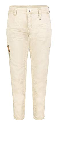 MAC Jeans Damen Rich Cargo Straight Jeans, Beige (Smooth Beige 214v), W38/L28