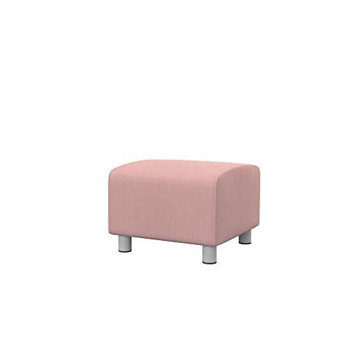 Soferia Funda de Repuesto para IKEA KLIPPAN Funda puf, Tela Majestic Velvet Blush Pink, Rosa