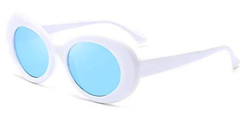 MOJINGYAN Zonnebrillen, Wit Helder Blauw 2019 Klassieke Goggle Bril Ovaal Dames Zonnebril Vintage Retro Zonnebrillen Women'S Uv400
