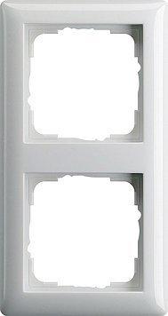 Gira System 55 reinweiß glänzend - 10er Set 2-fach Rahmen