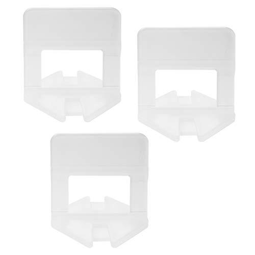 Lantelme Fliesenverlegehilfe Zuglaschen 2 mm Fugenbreite 500 Stück Fliesen Höhe 3-15mm Fliesennivelliersystem